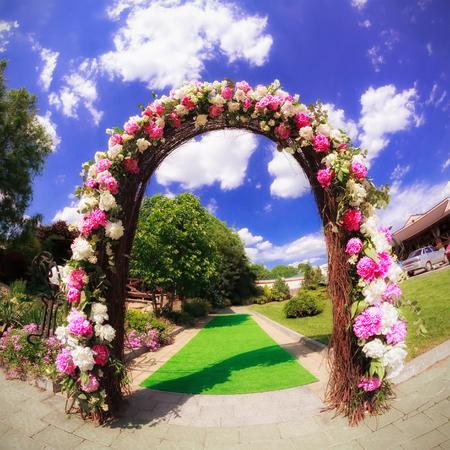 Flower wedding gate