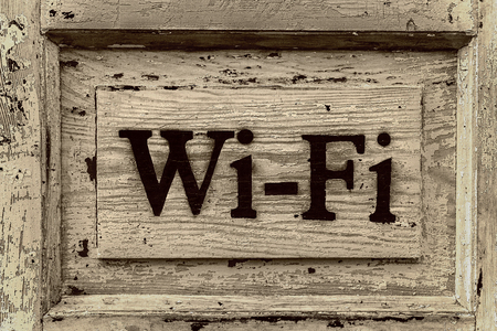 Wooden sign Wi-Fi
