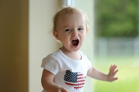 Little baby girl shouting Stock Photo - 5609958