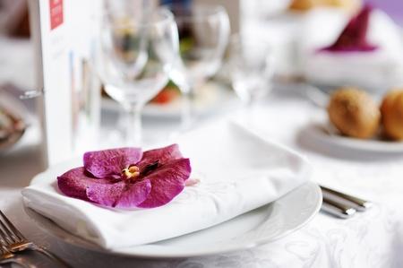 legen: Tischset f�r eine Veranstaltung oder Party Hochzeitsfeier