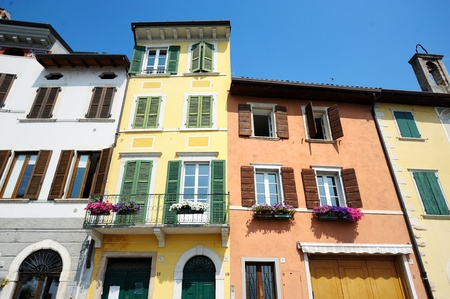 Colorful houses in Italian town photo