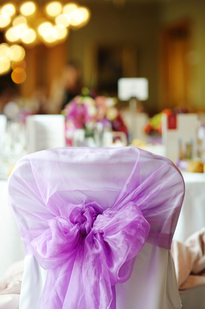 nicely: Nicely decorated chair at an event party or wedding