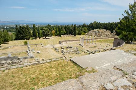 aesculapius: Historical ruins of Asclepieion on Kos island