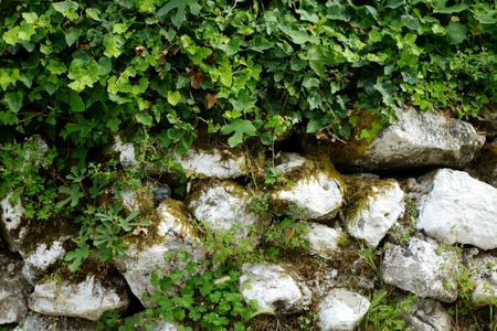 greece granite: Fragment of an ancient wall in Greece