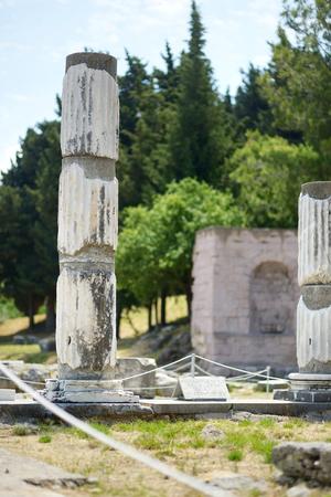esculapio: Ruinas hist�ricas de Asclepieion en la isla de Kos