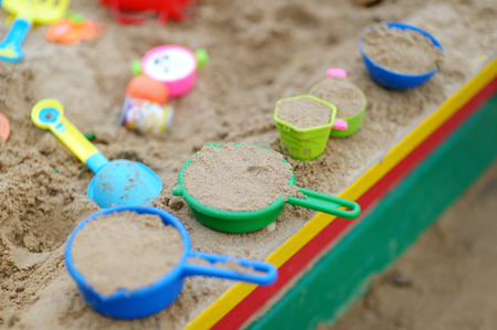 play of color: Some plastic sandbox toys