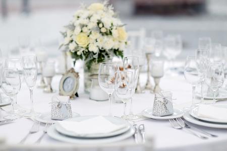 decoracion mesas: El vector fijó para un partido o una recepción de la boda, tema de invierno