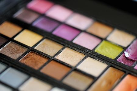 eye shadows: Colorful set of assorted eye shadows