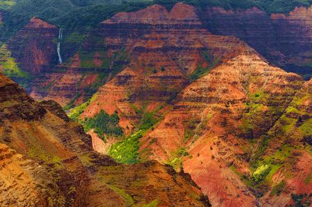 waimea canyon state park: Stunning aerial view into Waimea Canyon, Kauai, Hawaii Stock Photo