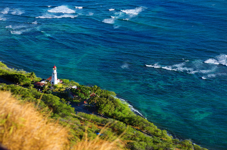 diamond head: Diamond Head lighthouse, Honolulu, Hawaii
