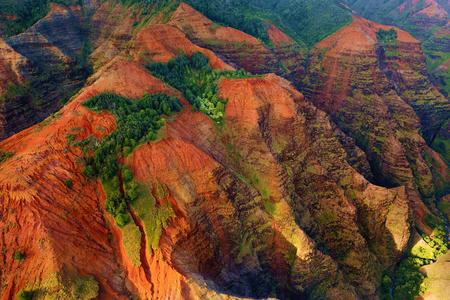 waimea canyon state park: Stunning view into Waimea Canyon, Kauai, Hawaii Stock Photo