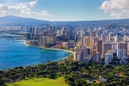 ハワイ州オアフ島ホノルル市の眺め