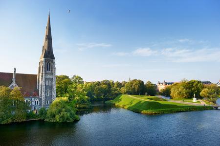 St Alban's kerk in Kopenhagen, Denemarken