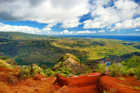 stunning: Stunning view into Waimea Canyon, Kauai, Hawaii Stock Photo