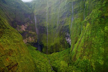 hawaii: Mount Waialeale known as the wettest spot on Earth, Kauai, Hawaii Stock Photo