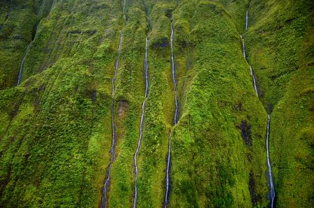 waimea canyon state park: Mount Waialeale known as the wettest spot on Earth, Kauai, Hawaii Stock Photo
