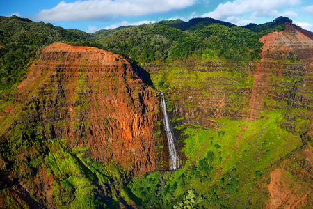 stunning: Stunning aerial view into Waimea Canyon, Kauai, Hawaii Stock Photo