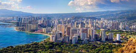 honolulu: Spectacular view of Honolulu city, Oahu, Hawaii