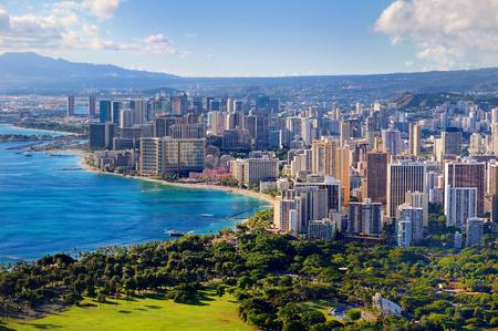 Oahu: Spectacular view of Honolulu city, Oahu, Hawaii