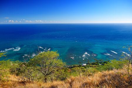 oceanfront: Oceanfront houses in Oahu island, Hawaii
