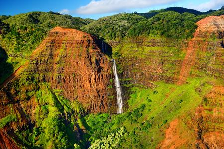 ワイメア峡谷、カウアイ島、ハワイの景色