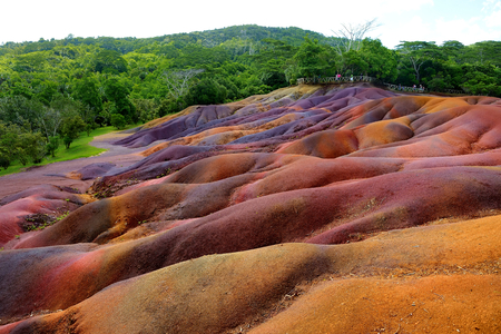 island: Chamarel seven coloured earths on Mauritius island
