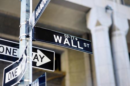 signe de Wall Street à Manhattan, New York, États-Unis