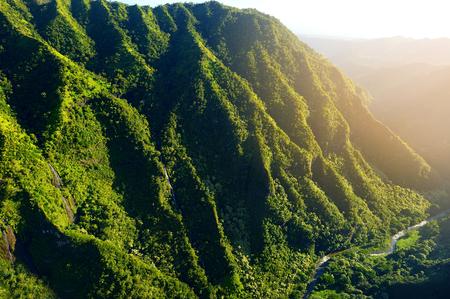 kauai: Stunning aerial view of spectacular jungles, Kauai, Hawaii