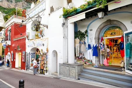 positano: POSITANO, ITALY - MAY 28, 2015: Typical medieval narrow street in beautiful town of Positano, Italy