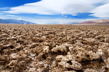 golf of california: Stunning salt formations at Devils Golf Course in Death Valley National Park, California, USA