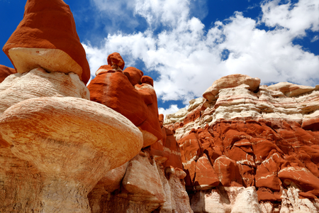 hopi: Amazing colors and shapes of sandstone formations of Blue Canyon in Hopi reservation, Arizona, USA