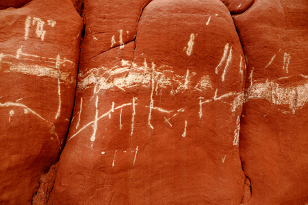 hopi: Detail of sandstone formations of Blue Canyon in Hopi reservation, Arizona, USA