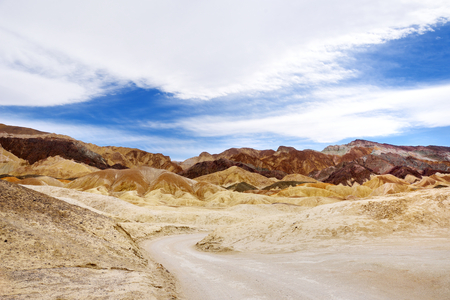 Famous Twenty Mule Teams road in Death Valley National Park, California, USA