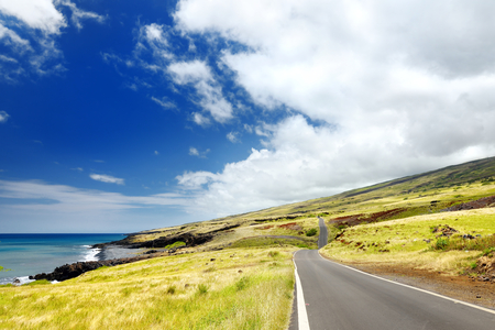 Beautiful landscape of South Maui. The backside of Haleakala Crater on the island of Maui, Hawaii Imagens - 77880236