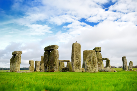Stonehenge, one of the wonders of the world and the best-known prehistoric monument in Europe, located in Wiltshire, England, UK.