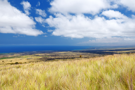 Beautiful landscape of south side of the Big Island of Hawaii, USA Imagens