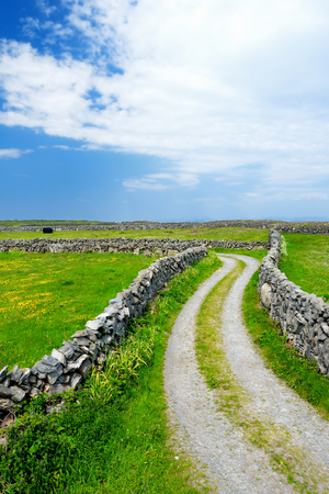 Inishmore or Inis Mor, the largest of the Aran Islands in Galway Bay, Ireland. Famous for its strong Irish culture, loyalty to the Irish language, and a wealth of Pre-Christian ancient sites.