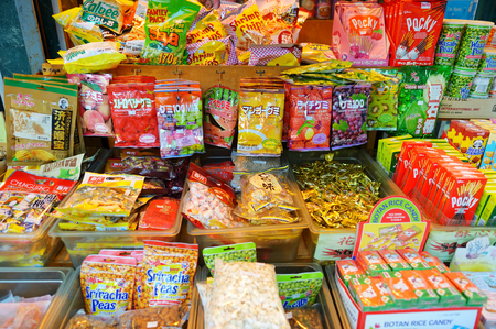 NEW YORK - MARCH 21, 2015: Assorted goods sold in chinese store in Chinatown district of New York City, one of oldest Chinatowns outside Asia.
