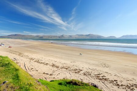 Inch beach, wonderful 5km long stretch of glorious sand and dunes, popular for surfing, swimming and fishing, located on the Dingle Peninsula, County Kerry, Ireland.