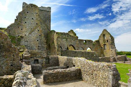 Abbaye de Hore, monastère cistercien en ruine près du rocher de Cashel, comté de Tipperary, Irlande