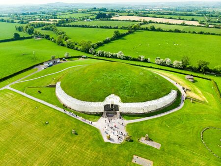 Newgrange, a prehistoric monument built during the Neolithic period, located in County Meath, Ireland.