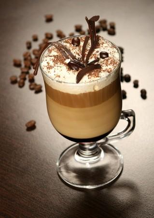 cappuccino: caf� fin chocolat Banque d'images