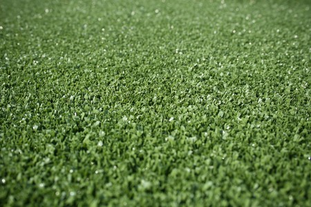 artifical: Green artifical grass, close-up