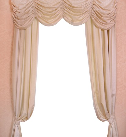 Luxury curtain with a copy-space in the middle Stock Photo - 8228905