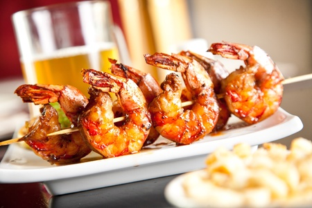 Shrimp grilled with beer photo