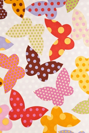 Butterfly. Fabric wallpaper background. photo