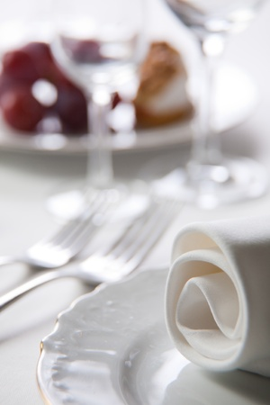 Place setting, close-up photo photo