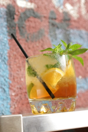 muddle: tropical cocktail  Stock Photo