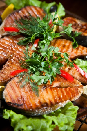 grilled salmon: Grilled fish