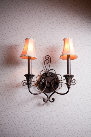 antique furniture: Classic wall lamp